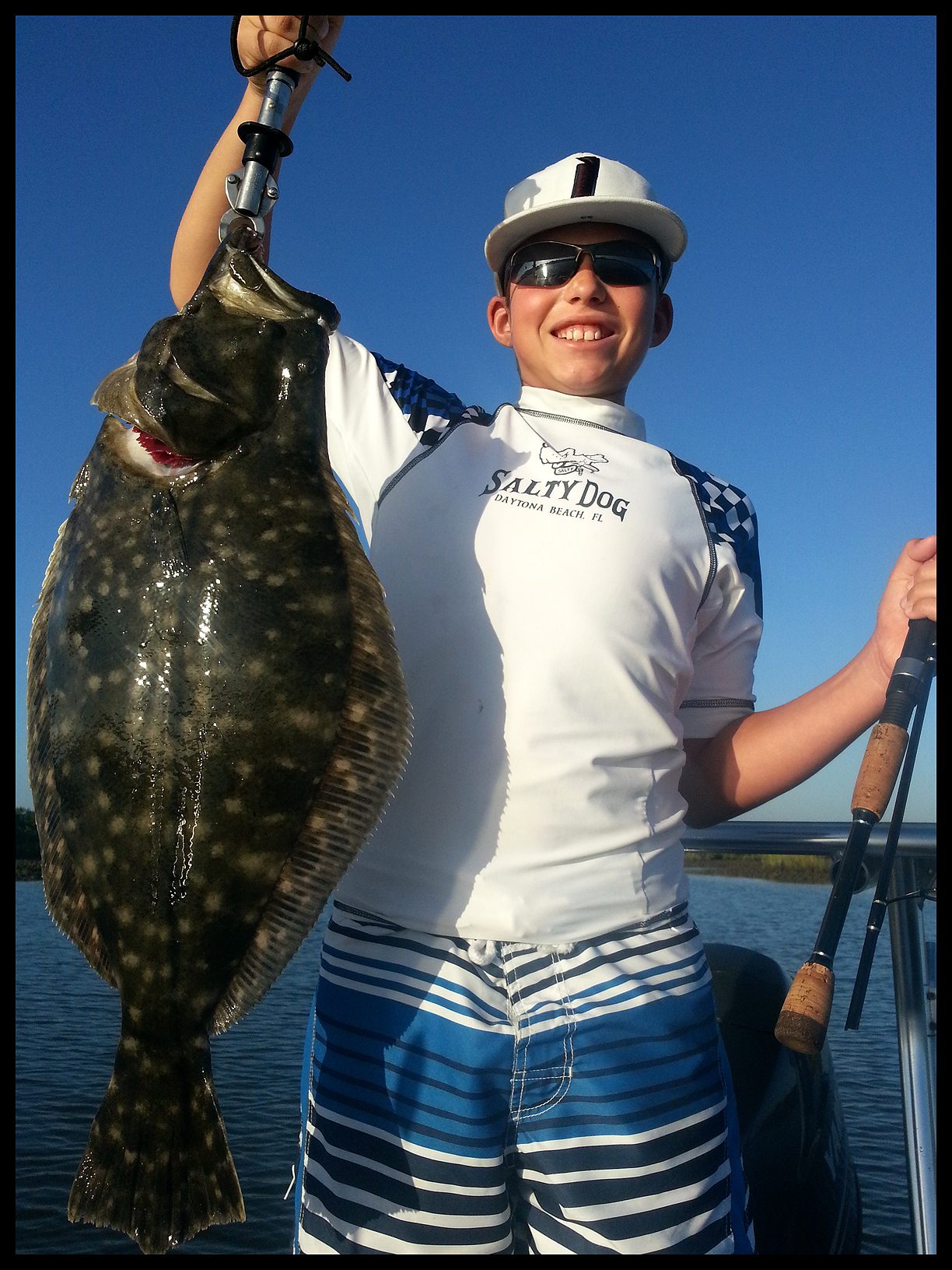 Joe with big flounder